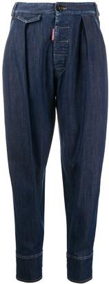DSQUARED2 High-Rise Balloon-Leg Jeans