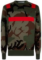 Givenchy Crew Neck Camouflage Sweater