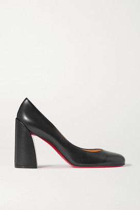 Christian Louboutin Miss Sab 85 Leather Pumps - Black