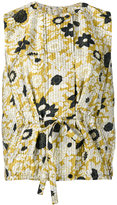Christian Wijnants sleeveless floral top - women - Polyester - 38