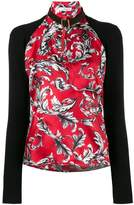 J.W.Anderson high neck filigree print top