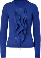 Moschino Cheap & Chic Blue Ruffled Cardigan