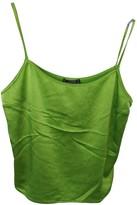 Gianni Versace Green Silk Top for Women Vintage
