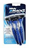 Gillette Gillete Mach 3 Smooth Shave Disposable Razor, 3 Count