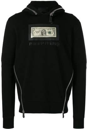 Philipp Plein dollar bill hoodie