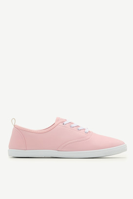 Ardene Faux Leather Laced Sneakers