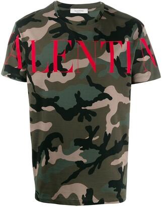 Valentino camouflage logo T-shirt