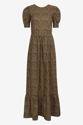 Baum und Pferdgarten Apricot Paisley Cotton 20321 Aerin Maxi Dress - 36 | cotton | Apricot Paisley