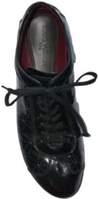 Louis Vuitton Black Patent Leather Explorer Sneakers Size 42