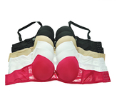 Angelina Neutral & Bright Pink Lace Deco Full-Fit Demi Bra Set - Plus Too