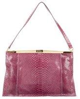 Devi Kroell Python Frame Shoulder Bag