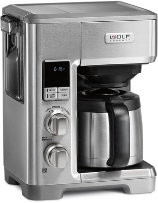 Wolf Gourmet Programmable Coffee Maker with Silver Knobs