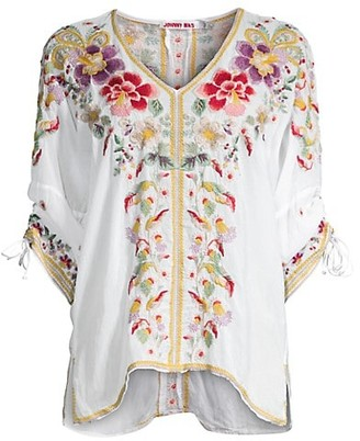 Johnny Was Evangeline Embroidered Top