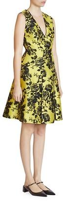 Erdem Yoko Sleeveless Floral A-Line Jacquard Dress