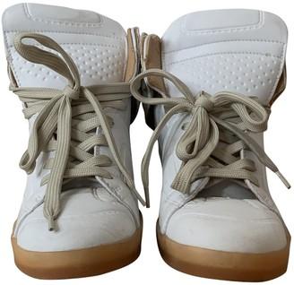 Maison Martin Margiela Pour H&m White Leather Trainers