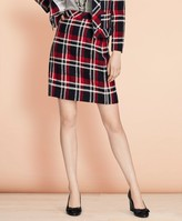 Brooks Brothers Plaid Wool-Blend A-Line Skirt