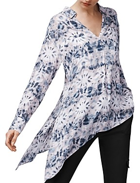 b new york Printed Asymmetric Top