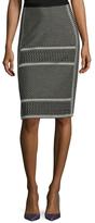 BCBGMAXAZRIA Evangelie Cotton Pencil Skirt