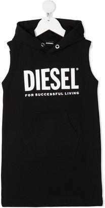 Diesel Logo Hooded Dress