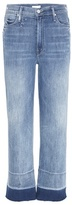 Mother The Undone Hem Maverick High-rise Cropped Jeans