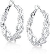 GUESS Braided Rope-Look Hoop Earrings