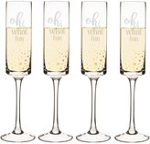 Cathy's Concepts 4-Piece Oh What Fun Dotted Champagne Flute Set