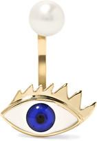 Delfina Delettrez 9-karat Gold, Pearl And Enamel Earring - one size