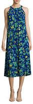 Ellen Tracy Petite Printed Halter Maxi Dress