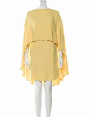 Sara Battaglia Bateau Neckline Mini Dress w/ Tags Yellow