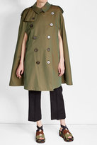 Burberry Iridescent Cotton Trench Cape