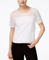 Bar III Perforated Top, Created for Macy's