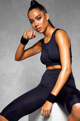 boohoo Fit Wrap Over Sports Bra