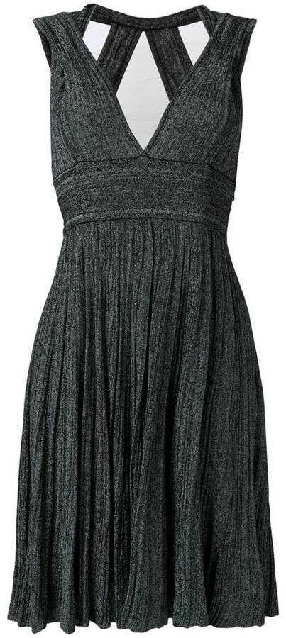 Valenti Antonino v-neck knitted midi dress