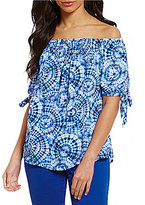 Spense Spence Off-The-Shoulder Printed Top