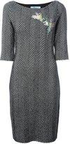 Blumarine herringbone knit dress