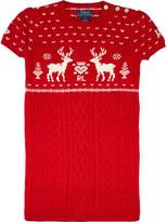 Ralph Lauren Reindeer knit sweater dress 1 - 6 years