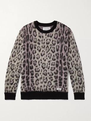 Wacko Maria Jaguar-Jacquard Knitted Sweater