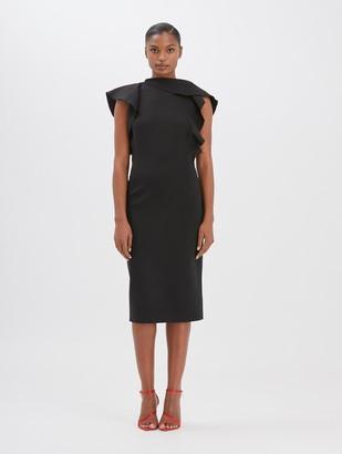 Oscar de la Renta Ruffled Dress