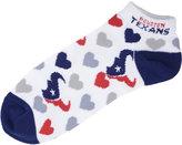 For Bare Feet Women's Houston Texans Heart Logo Repeat Socks
