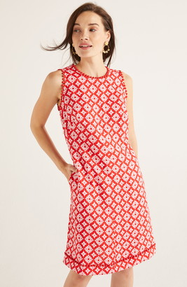 Boden Romaine Pom Linen Shift Dress