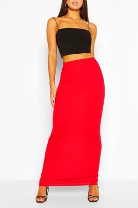 boohoo Basic Jersey Maxi Skirt