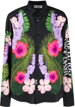 Versace Tropical-print relaxed-fit shirt