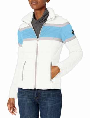 Nautica Women's Short Stretch Packable with Colorblock Chest