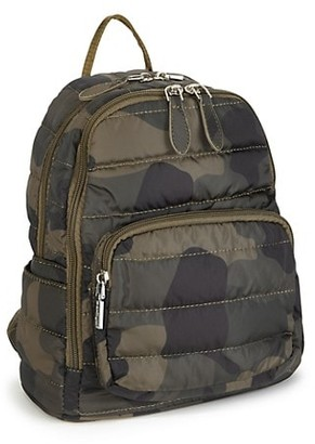 Bari Lynn Camo-Print Backpack