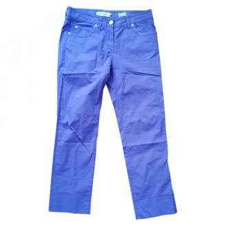 Henry Cotton Purple Cotton Trousers for Women