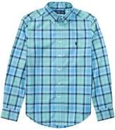 Polo Ralph Lauren Plaid Cotton Poplin Shirt Boy's Short Sleeve Button Up