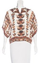 Etoile Isabel Marant Abstract Print Short Sleeve Top
