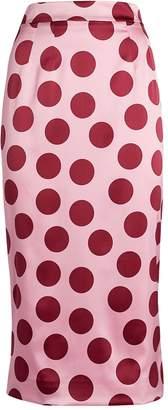 Dolce & Gabbana Silk Polka-Dot Skirt