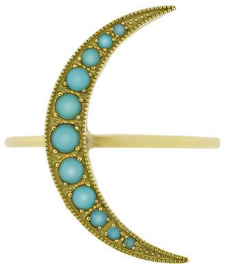 Andrea Fohrman Medium Turquoise Luna Ring