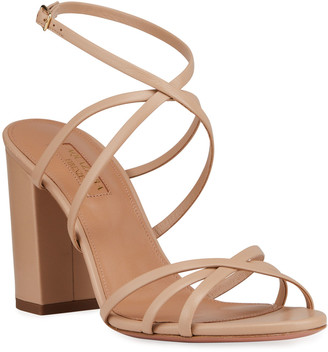 Aquazzura Gin 85mm Napa Leather Sandals